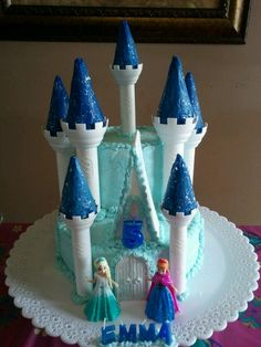 Emma's 5th Birthday Disney Frozen Castle Cake!