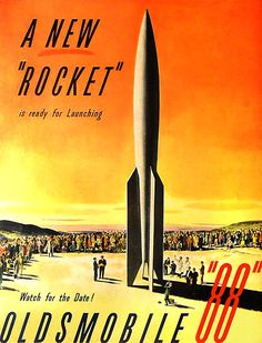 1950 Oldsmobile Rocket 88 Adverts 1 pic on Design You Trust