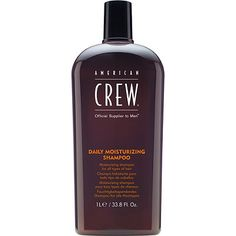 With enhanced moisturizing properties, American Crew's improved Daily Moisturizing Shampoo will provide moisture balance while cleansing and invigorating hair and scalp.