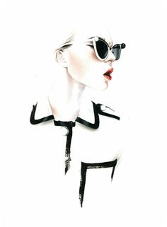 Fashion Illustration by Antonio Soares - Exploring his the strength within is delicate work