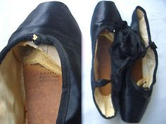 Ballettschuhe Spitzenschuhe Spitzentanz schwarz Gr. 40 Firma Martin | eBay