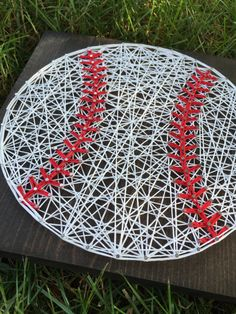 Know a baseball fanatic? This board is for them! This listing is for a made to order string art baseball sign measuring approximately 9.25 x