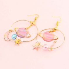 Dreamy Fantasy Galaxy Earrings - Life with Alyda Cute Jewelry, Jewelry Box, Jewelry Accessories, Fashion Accessories, Fashion Jewelry, Women Jewelry, Wedding Accessories, Jewlery, Kawaii Jewelry