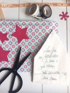 Weihnachtskarte, Stern als Karte, Weihnachtsgruß