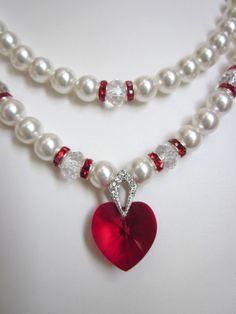 2-cadena collar de perlas perlas de por CreationsbyCynthia1