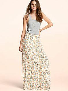 Mixed-media Maxi Dress