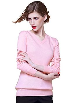 Zhili Women's V-neck Cashmere Pullover Sweater(pink_Small) This is a pure cashmere sweater. Our sweaters are made of fine cashmere. These sweaters are made from 95% cashmere 5% wool cashmere yarn, providing unparalleled warmth and softness. Note: only sales of cashmere sweaters, not including the inside collocation shirt and accessoriescashmere95% cashmere 5% woolLuxurious, Soft & WarmWorldwide Shipping AvailableHand Finished Details
