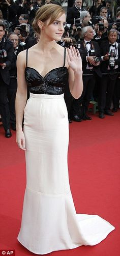 Emma Watson at Cannes is a chic chanel gown. Fabulous.