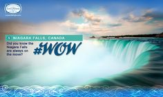 The Niagara Falls has shifted seven miles in 12,500 years, and could be the fastest moving waterfalls in the world! #WorldOfWaterfalls #travel #CnK