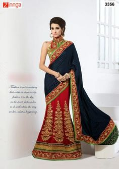 Red and Blue Color Jacquard Saree   #Sarees #Saris #Fashion #Look #Popular #Offers #Deals #Fashionable #Zinnga #zinngafashion #Deal #Look #Picoftheday #Photooftheday #womens