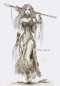 Warrior Girl, Young At Heart, Cute Illustration, My Drawings, Whimsical, Gothic, Fantasy, Sweet, Anime