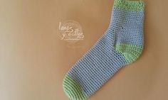 Easy Crochet Socks - Calcetín fácil de crochet - Patrón y Vídeo <3