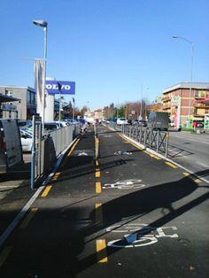 Conclusi i lavori al tratto ciclabile su via Emilia Est a Modena