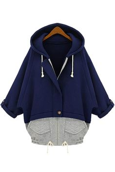 Relaxed Color Block Paneled Hoodie - OASAP.com