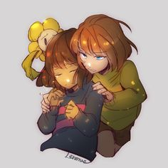 Undertale - Flowey,Frisk and Chara❤