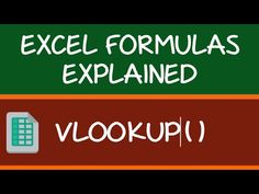 VLOOKUP is the most popular Excel function. Here are 10 VLOOKUP Examples that will make you a VLOOKUP pro + a FREE VLOOKUP Ebook Microsoft Excel, Vlookup Excel, Microsoft Office, Computer Lessons, Computer Help, Computer Programming, Computer Tips, Computer Basics, Computer Keyboard
