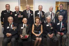 14 April 2015 eight New Zealand Veterans were awarded the French Legion of Honour by the French Ambassador to New Zealand H. Mrs Florence Jeanblanc-Risler at ceremony held at the National Mueseum of the Royal New Zealand Navy. Legion Of Honour, World War Two, New Zealand, Florence, Hold On, Two By Two, Presentation, Navy, Hale Navy