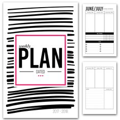 Dated Weekly Planner Printable