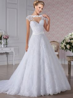 Hot Sale Sereia Brazil Bride Dress Lace Sweetheart Court Train Pearls Wedding Bridal Dresses Free Shipping 7-8 Days Custom Made | Simple Wedding Today