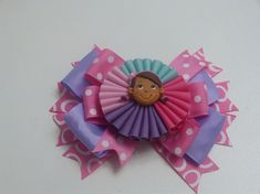 Moños , Lazo acordeon, flores Multicolores, How To Make A Hair Bow,  Moñ...