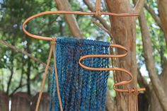Copper Wall Hanging Textile Art Garden Decor by homemadehippies