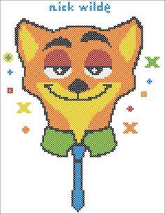 BOGO FREE ZOOTOPIA Characters Nick Welde  by Rainbowstitchcross