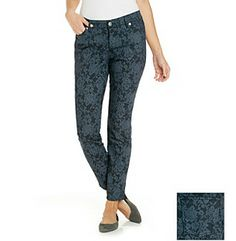 Product: Nine West Vintage America Collection® Lace Print Matchstick Skinny Jean