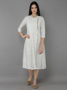 Off White Cotton Silk Tunic
