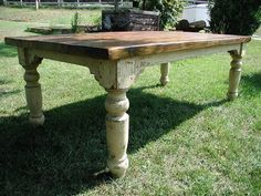 Love farm tables! antique-furnature