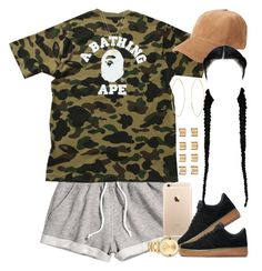 """""""Sorry everyone, The Olympics got me distracted """" by livelifefreelyy ❤ liked on Polyvore featuring H&M, A BATHING APE, Movado, NIKE, rag & bone, Joolz by Martha Calvo, Gucci, Lana and Maison Margiela"""