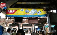 Recently we done campaign for Wep Billing Machine, back lit station board at CST station.