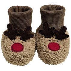 Mummy's Little Pudding Reindeer Booties