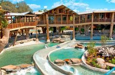 The Tree Haus Resort in New Braunfels, TX is one of America's most unique lodgings. Along with your stay you'll get access to one of the world's best waterparks, the Schlitterbahn Waterpark. It's basically over 70 acres of awesome.