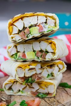 Healthy Chicken Avocado Wraps are a great lunch and dinner ideas which is delicious, nutritious, and easy to make for busy days.