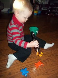 i'm going to make it (after all): 100 (Attempted) Ways to Entertain a Young Toddler, Day 68: Tongs Practice