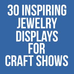 Need some display inspiration for your next craft show? This list has some super clever ideas. From Hip Hip Handmade Shows