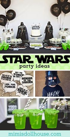 Star Wars Party: Jedi Jaxon's Star Wars 4th Birthday Party. This Star Wars party is out of this world. Be sure to check out all of our Star Wars party ideas and inspiration. via @mimisdollhouse #StarWarsParty #JediParty