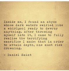 Do you dare to dive into the deepest and darkest depths of your mind? #DanielSaint