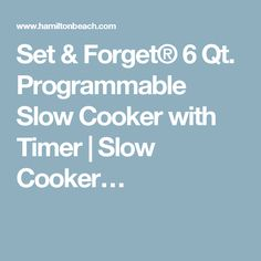 Set & Forget® 6 Qt. Programmable Slow Cooker with Timer | Slow Cooker…