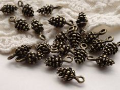 Antique Bronze Metal 3D Pine Cone Nature Charms Bulk by BuyDiy, $3.99