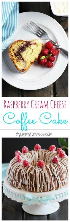 Raspberry Cream Cheese Coffee Cake   3 Yummy Tummies
