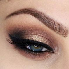 Pageant and Prom Makeup Inspiration. Find more beautiful makeup looks with Pageant Planet. Pageant Makeup, Prom Makeup, Wedding Hair And Makeup, Bridal Makeup, Gold Smoky Eye, Neutral Smokey Eye, Smokey Eye For Brown Eyes, Eye Makeup Tips, Smokey Eye Makeup