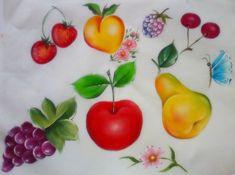 Pintura em Tecido ,Dicas, Materiais e Passo a Passo: Galeria frutas/legumes