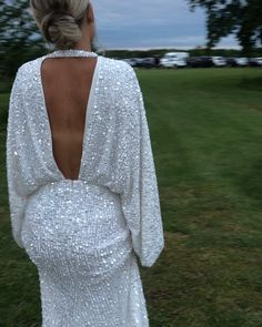 "Hattie Smith on Instagram: ""Dress no2 ready to dance the night away✨✨"" White Sequin Dress, Sequin Kimono, Sequin Party Dress, Asos Wedding Dress, Wedding Kimono, Evening Dresses For Weddings, Bridal Dresses, Fantasy Wedding, Purple Wedding"