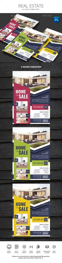 #Real #Estate - #Flyers Print Templates