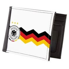 Germany flag colors and soccer logo design - Mens Wallet <3