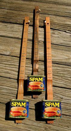 Spamjo Canjo Cigarbox Guitar Banjo Dulcimer, made in Tennessee ... Amazing One String Wonder
