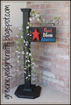 Image result for garden flag stand diy