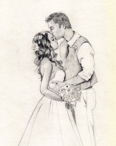 Custom couple portrait  wedding portrait   by ArtFromDreamland, €42.00