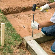 Brick treads framed with landscape timbers make attractive steps between different levels in your yard. Learn how to make them here!